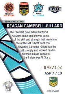 2017 NRL Elite All Stars Parallel ASP7 Reagan Campbell-Gillard Panthers #98/100