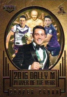 2017 NRL Elite Dally M Album Card DM1 Cooper Cronk Storm
