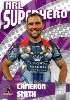 2017 NRL Superhero Cameron Smith / Slater / Celebration 3-Card Team Set Storm #/100