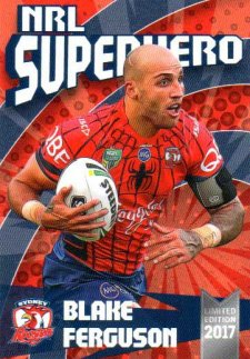 2017 NRL Superhero Blake Ferguson / Boyd Cordner 2-Card Team Set Roosters #/100