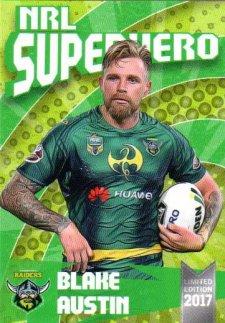 2017 NRL Superhero Blake Austin / Shannon Boyd 2-Card Team Set Raiders #/100