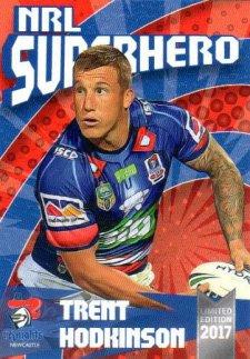 2017 NRL Superhero Trent Hodkinson / Daniel Saifiti 2-Card Team Set Knights #/100
