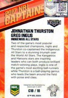2017 NRL Elite 2017 Captains *Artist Signed* Johnathan Thurston / Greg Inglis Indigenous All Stars