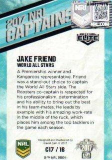 2017 NRL Elite 2017 Captains *Artist Signed* Jake Friend All Stars