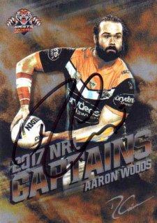 2017 NRL Elite 2017 Captains *Artist Signed* Aaron Woods Tigers