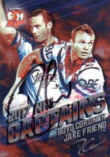 2017 NRL Elite 2017 Captains *Artist Signed* Boyd Cordner / Jake Friend Roosters