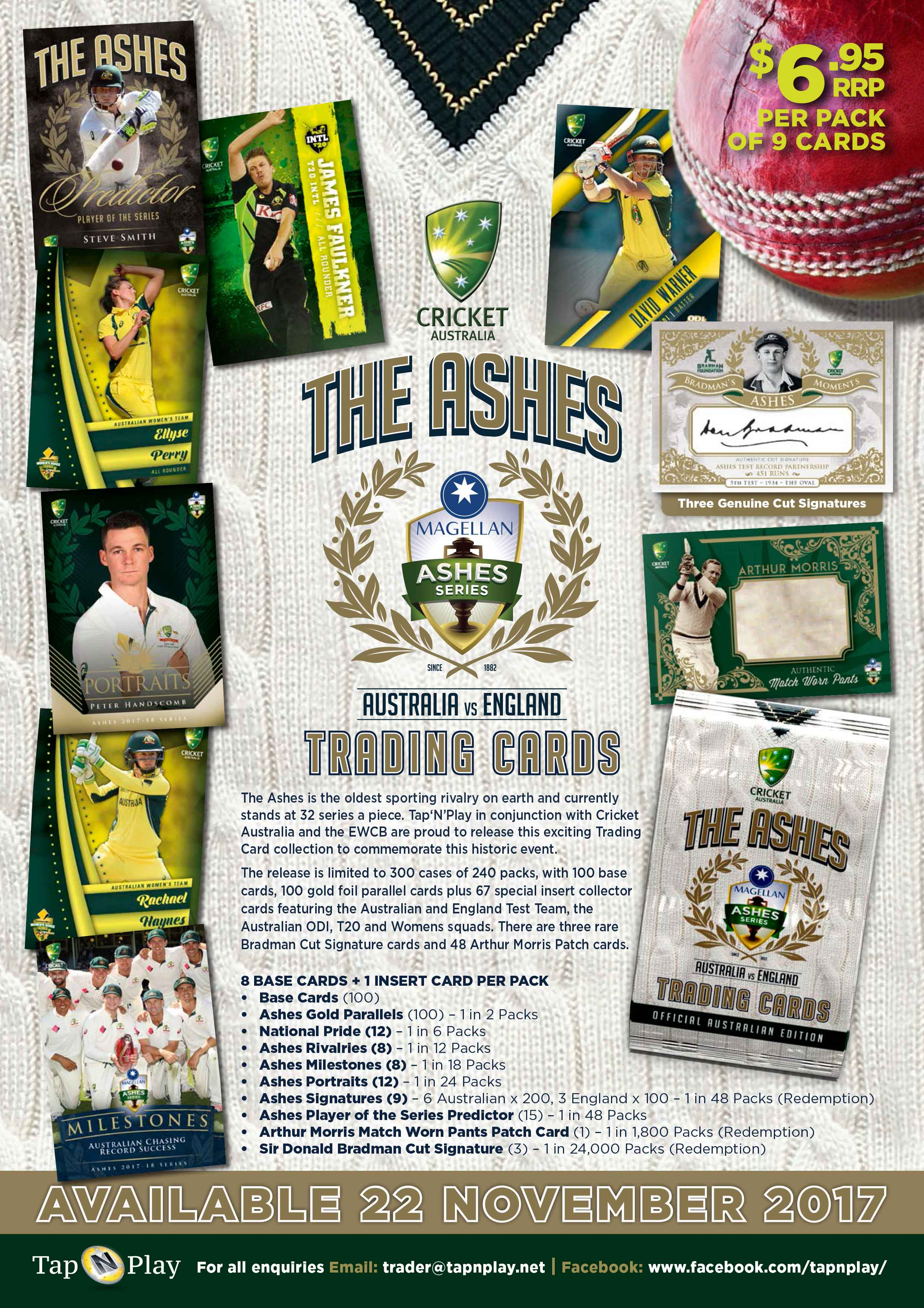Ashes 2017/18 Sales Flyer