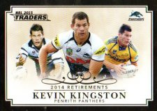 2015 NRL Traders Retirements #R7 Kevin Kingston Panthers