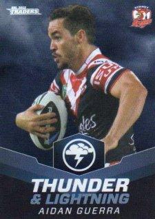 2015 NRL Traders Thunder & Lightning #TL27 Aiden Guerra Roosters