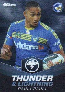 2015 NRL Traders Thunder & Lightning #TL17 Pauli Pauli Eels