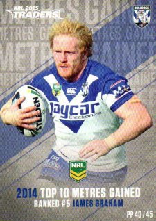2015 NRL Traders Pieces of the Puzzle #PP40 James Graham Bulldogs