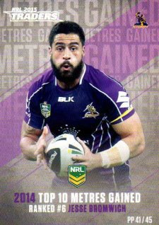 2015 NRL Traders Pieces of the Puzzle #PP41 Jesse Bromwich Storm
