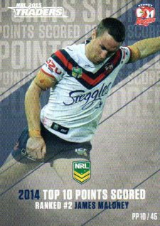 2015 NRL Traders Pieces of the Puzzle #PP10 James Maloney Roosters
