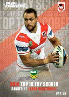 2015 NRL Traders Pieces of the Puzzle #PP7 Jason Nightingale Dragons