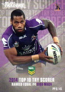 2015 NRL Traders Pieces of the Puzzle #PP6 Sisa Waqa Storm