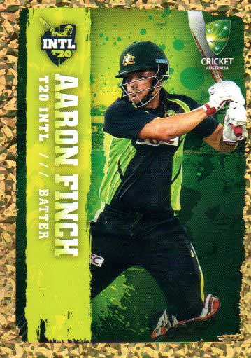 2017/18 Tap n Play Cricket The Ashes Gold Parallel 83 Aaron Finch Australia T20