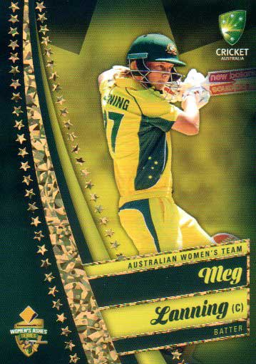 2017/18 Tap n Play Cricket The Ashes Gold Parallel 43 Meg Lanning Australia Womens