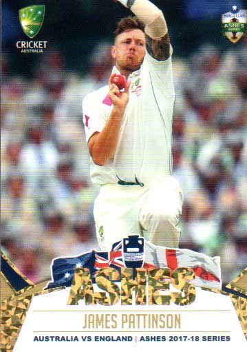 2017/18 Tap n Play Cricket The Ashes Gold Parallel 17 James Pattinson Australia Test