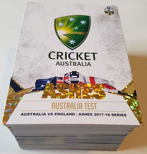 2017/18 The Ashes Cricket Complete 100-Card Gold Parallel Set