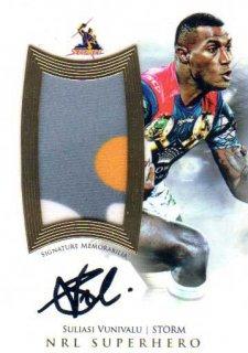 2017 NRL Superhero Limited Edition Jersey Signature Suliasi Vunivalu Storm #41/50