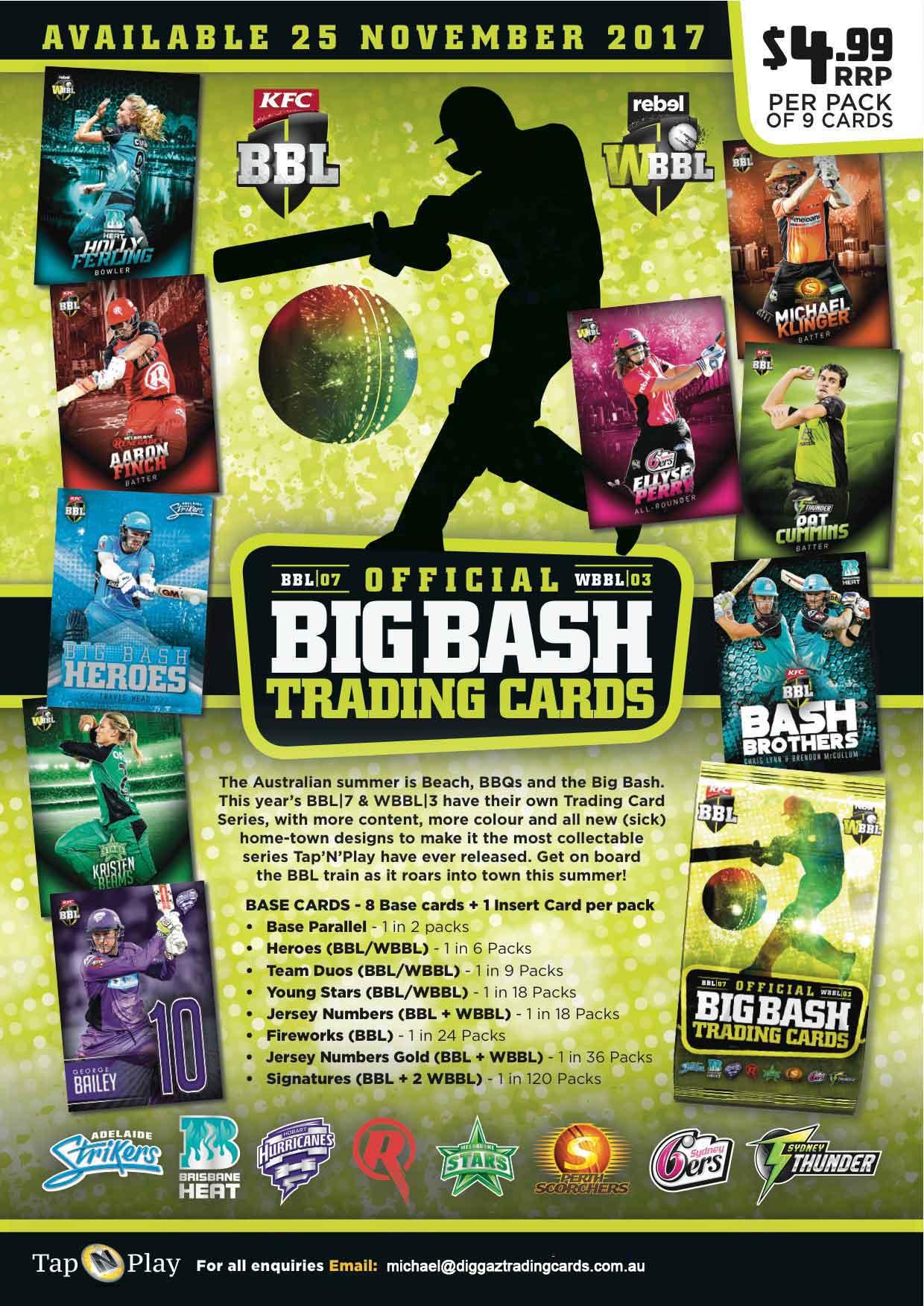 2017/18 Cricket Big Bash BBL Sales Flyer