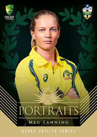 2017/18 Tap n Play Cricket The Ashes Portraits AP7 Meg Lanning #/250