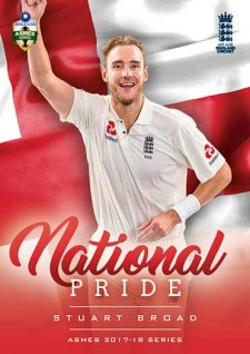 2017/18 Tap n Play Cricket The Ashes National Pride NP11 Stuart Broad England Test