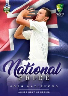 2017/18 Tap n Play Cricket The Ashes National Pride NP4 Josh Hazlewood Australia Test