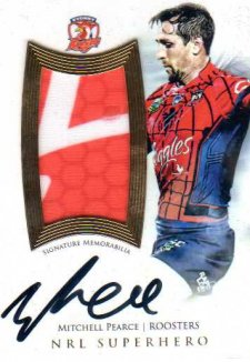 2017 NRL Superhero Limited Edition Jersey Signature SH8 Mitchell Pearce Roosters