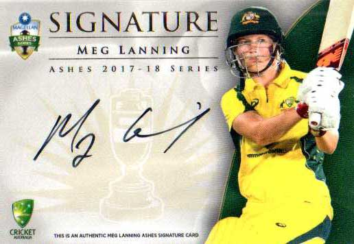 2017/18 Tap n Play Cricket The Ashes Signature Card AS6 Meg Lanning