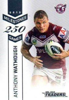 2014 NRL Traders Milestones M6 Anthony Watmough Sea Eagles