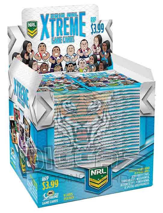 2018 ESP NRL Xtreme Sealed Trading Cards Box (24 Packets)