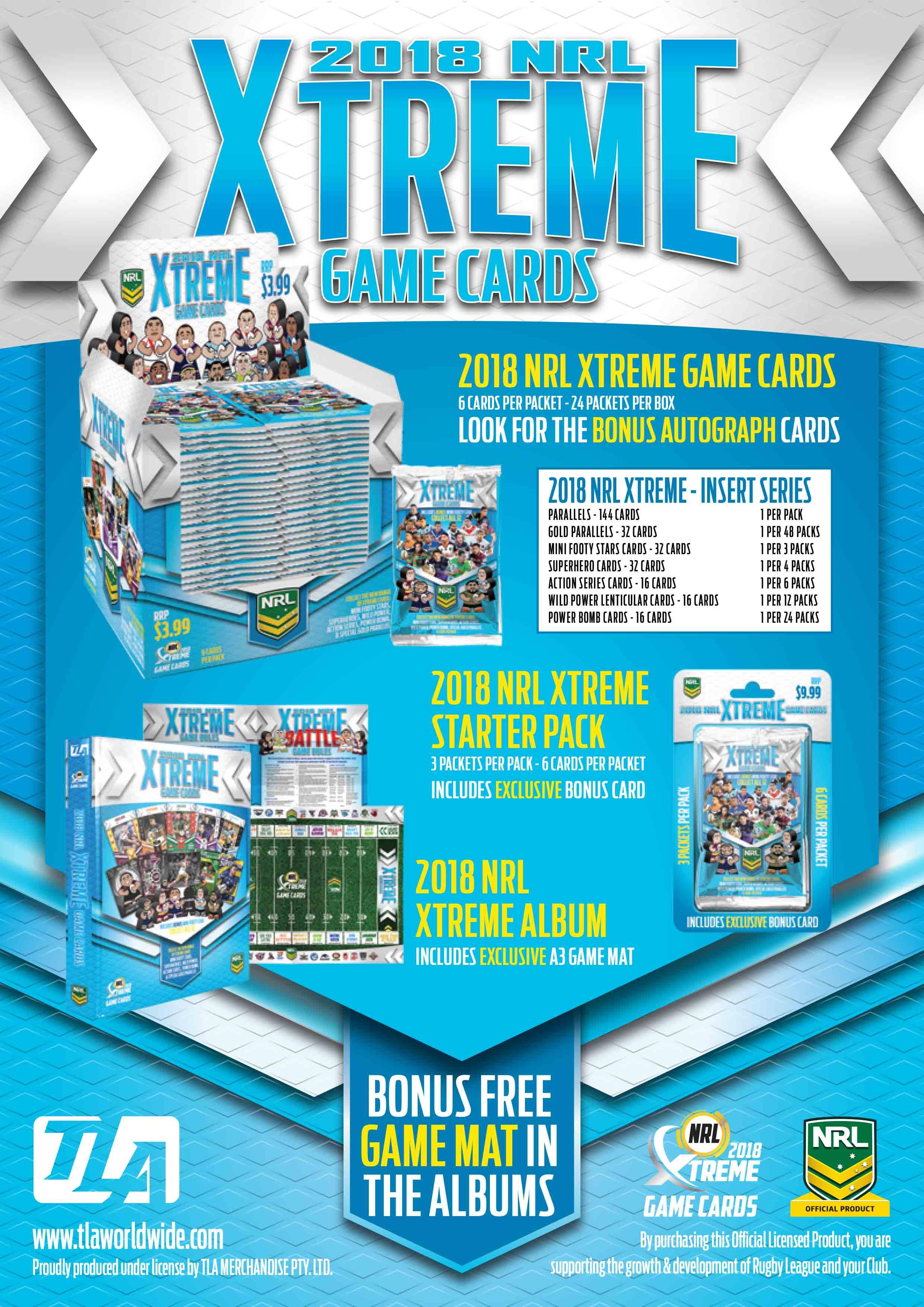 2018 NRL Xtreme Game Cards Sale Flyer