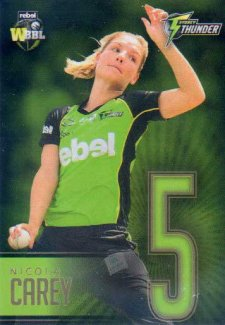 2017/18 BBL Big Bash Cricket Player Numbers GOLD JNG16 Nicola Carey Thunder