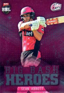 2017/18 BBL Cricket Big Bash Heroes H20 Sean Abbott Sixers