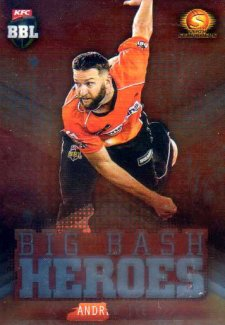 2017/18 BBL Cricket Big Bash Heroes H16 Andrew Tye Scorchers