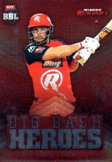 2017/18 BBL Cricket Big Bash Heroes H10 Aaron Finch Renegades