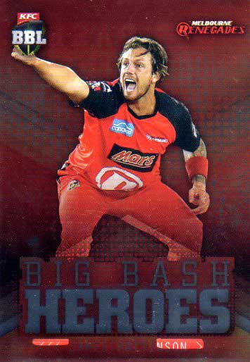 2017/18 BBL Cricket Big Bash Heroes H11 James Pattinson Renegades