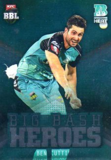 2017/18 BBL Cricket Big Bash Heroes H5 Ben Cutting Heat