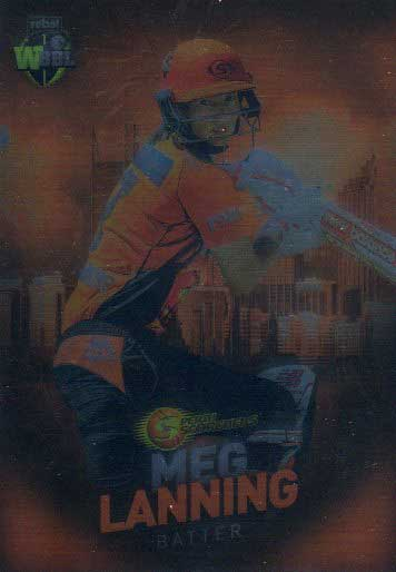 2017/18 BBL Big Bash Cricket Parallel Card 119 Meg Lanning Scorchers
