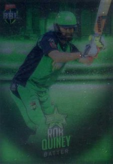 2017/18 BBL Big Bash Cricket Parallel Card 90 Rob Quiney Stars