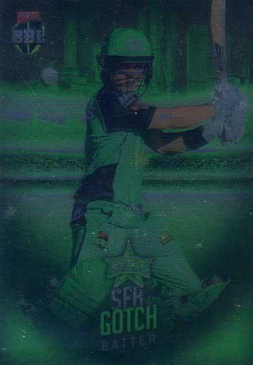 2017/18 BBL Big Bash Cricket Parallel Card 85 Seb Gotch Stars