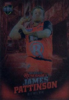 2017/18 BBL Big Bash Cricket Parallel Card 65 James Pattinson Renegades