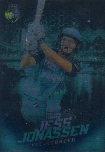 2017/18 BBL Big Bash Cricket Parallel Card 37 Jess Jonassen Heat