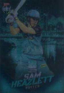 2017/18 BBL Big Bash Cricket Parallel Card 24 Sam Heazlett Heat