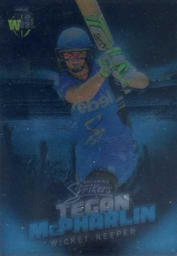 2017/18 BBL Big Bash Cricket Parallel Card 17 Tegan McPharlin Strikers