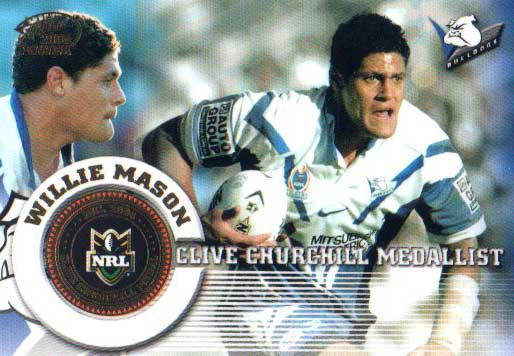 2005 NRL Power Case Card CC1 Willie Mason Bulldogs