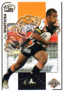 2005 NRL Power Base Card 181 Paul Whatuira Tigers