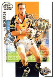 2005 NRL Power Base Card 179 Pat Richards Tigers