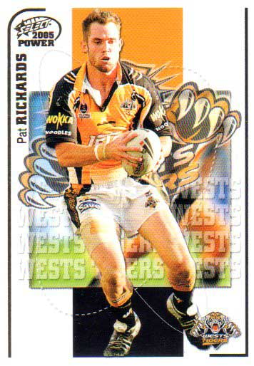 2005 NRL Power Base Card 179 Pat Richards Tigers